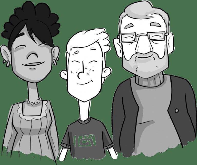 Voorbeeld whiteboard animatie karakters